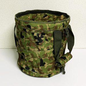 陸上自衛隊 迷彩 円筒形ドラムバッグ